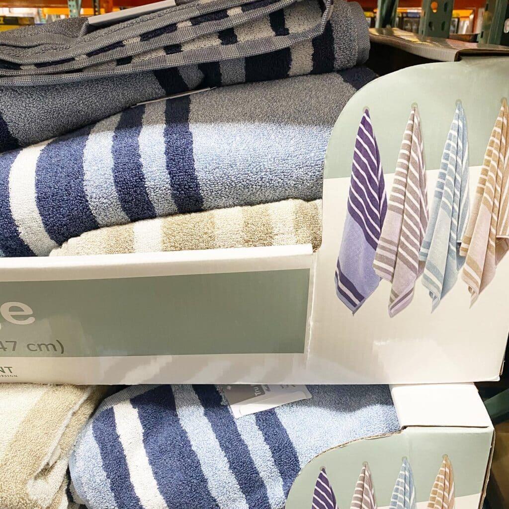 Trident Striped Bath Towels - CostContessa