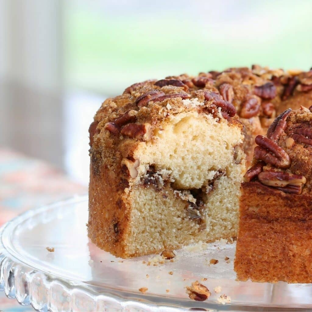 Make homemade cinnamon swirl coffee cake from ingredients at Costco!