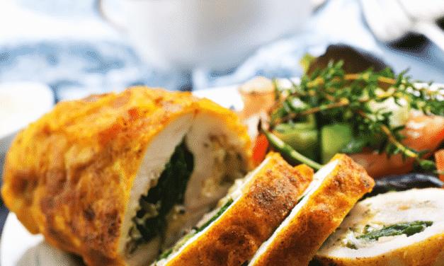 Chicken and Pesto Roll Ups