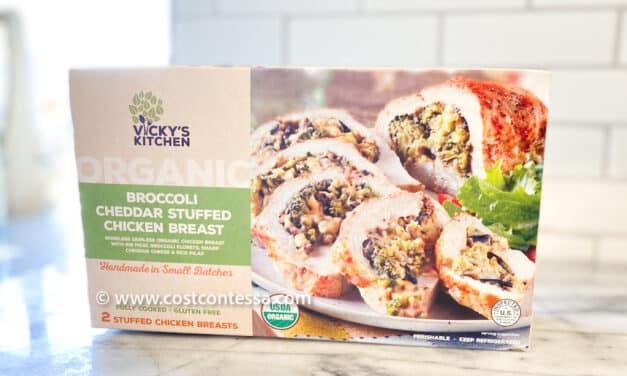 Vicky's kitchen organic broccoli cheddar stuffed chicken
