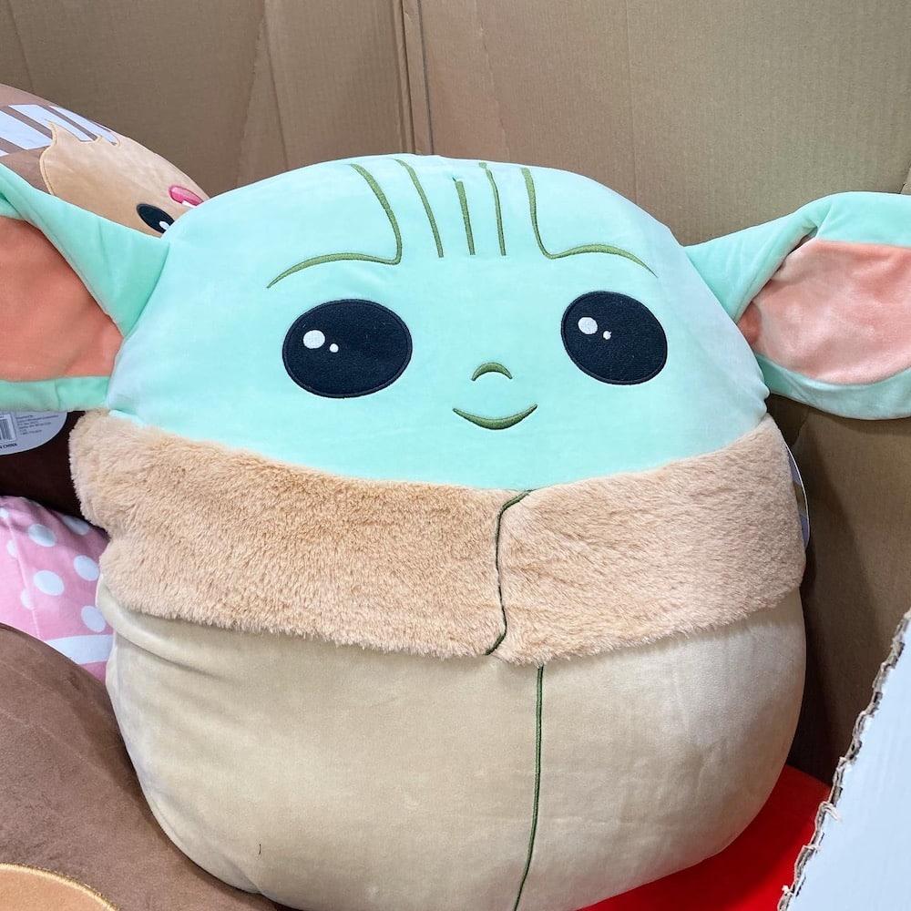 Baby Yoda Squishmallows Super Soft Sensory Pillow at Costco Stores and at Costco.com - more at costcontessa.com