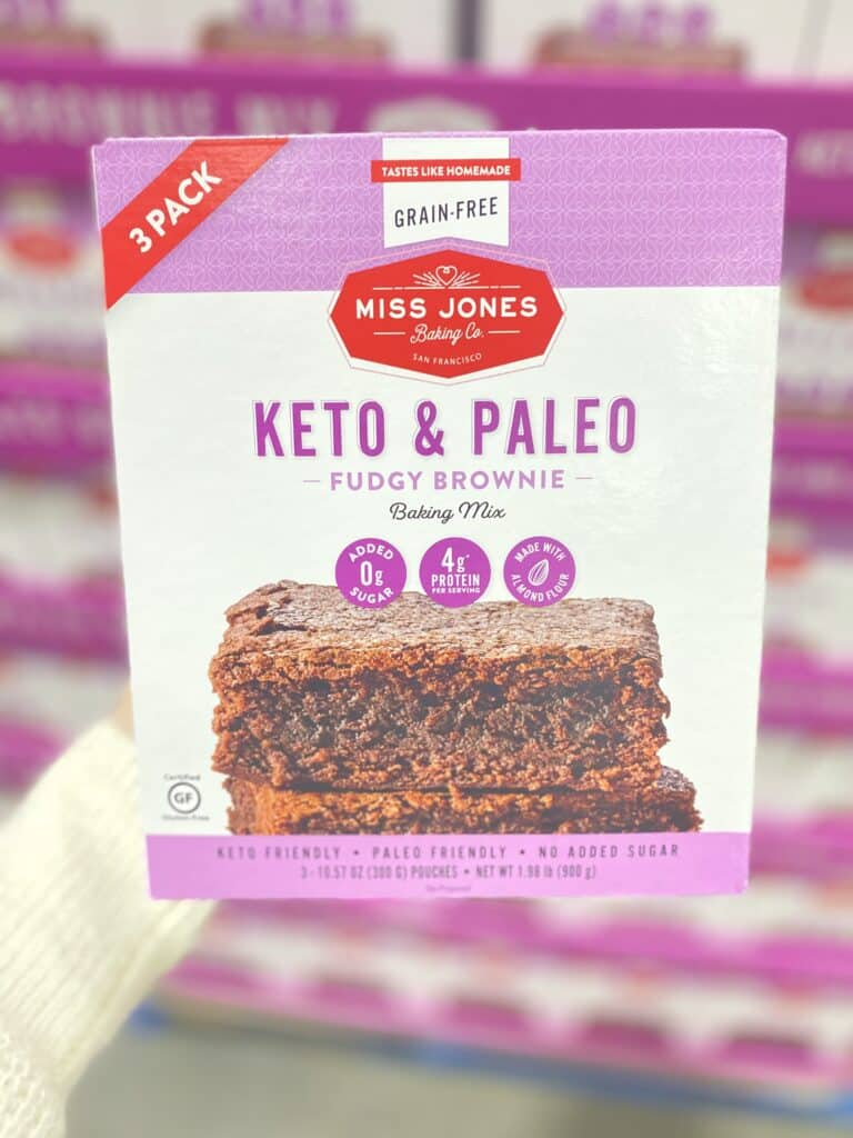 Keto & Paleo Brownie Mix now at Costco Stores - Ingredients - Miss Jones - See more at Costco Contessa
