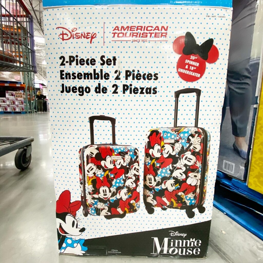 Minnie Mouse American Tourister Set at Costco