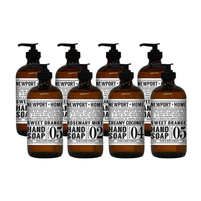 Buy 2 Get 1 FREE Costco Coupon Deal! Included is Newport + Home hand soap in amber glass bottles.