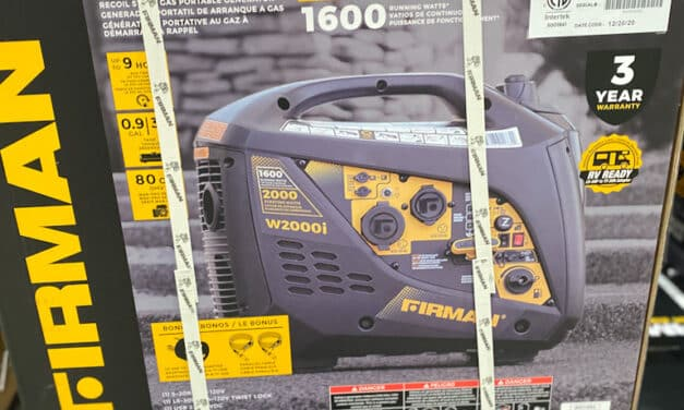 Whisper Quiet Camping GENERATOR AT COSTCO with 1600 RUNNING WATTs