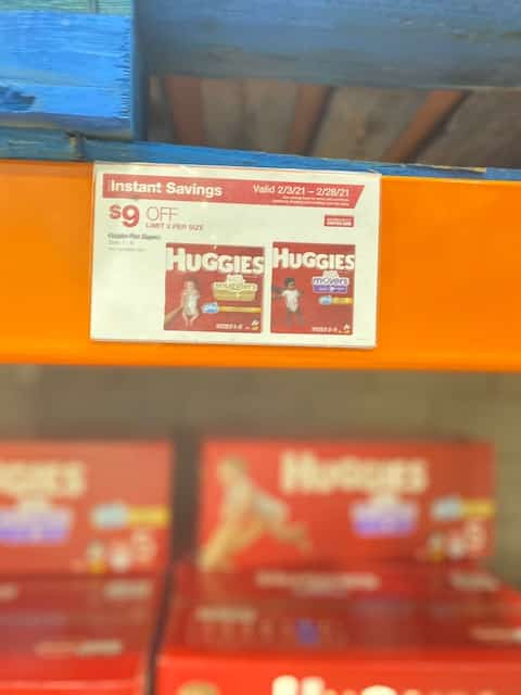 Huggies Little Movers Deal at Costco - in-store or online - free shipping.