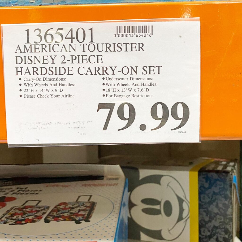 Mickey Mouse Disney Hardside Luggage Set from Costco