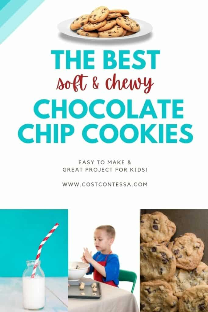 The best soft and chewy chocolate chip cookie recipe ever! Easy to make and a great baking project for kids!
