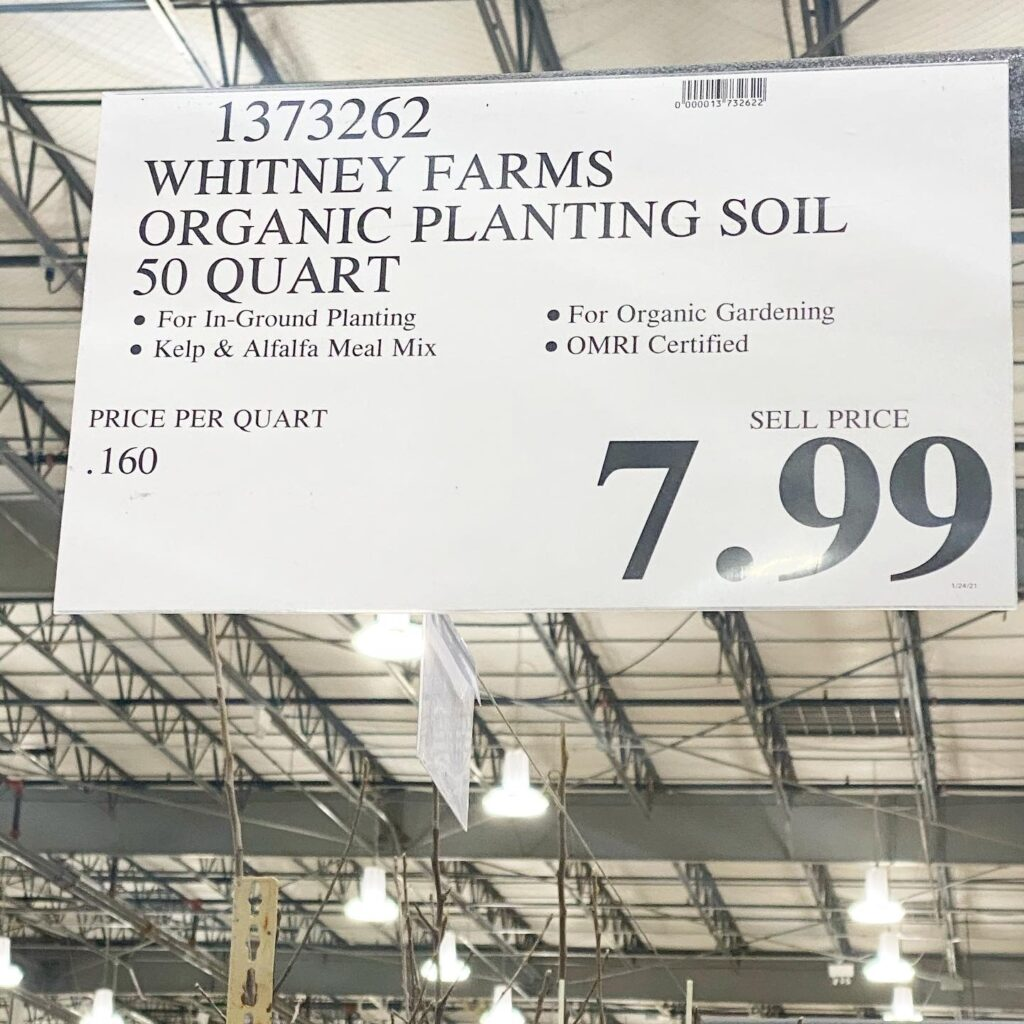 Organic Planting Soil at Costco - New Costco Garden Items, Steals and Deals! From Whitney Farms.