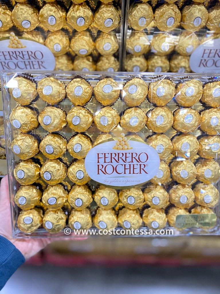 Ferrero Rocher Hazelnut Chocolates at Costco Wholesale Warehouses - Costco Item Number 521658 - $13.49 48 CT