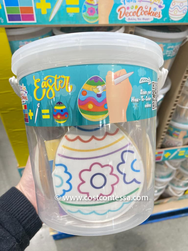 Deco Easter Cookies Paintable Cookies - 8 Count Bucket of Individually Wrapped Cookie Kits $9.99!