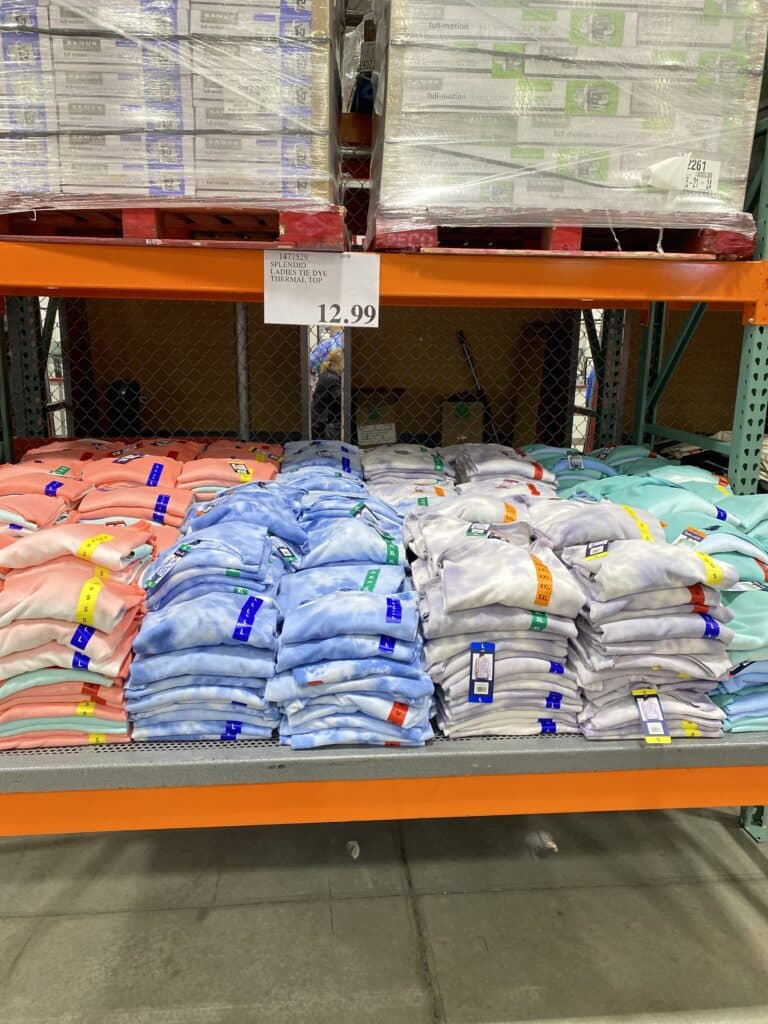 Splendid Thermal Knit Waffle Long Sleeve Tees - Off The Shoulder - Costco Steal for $13!