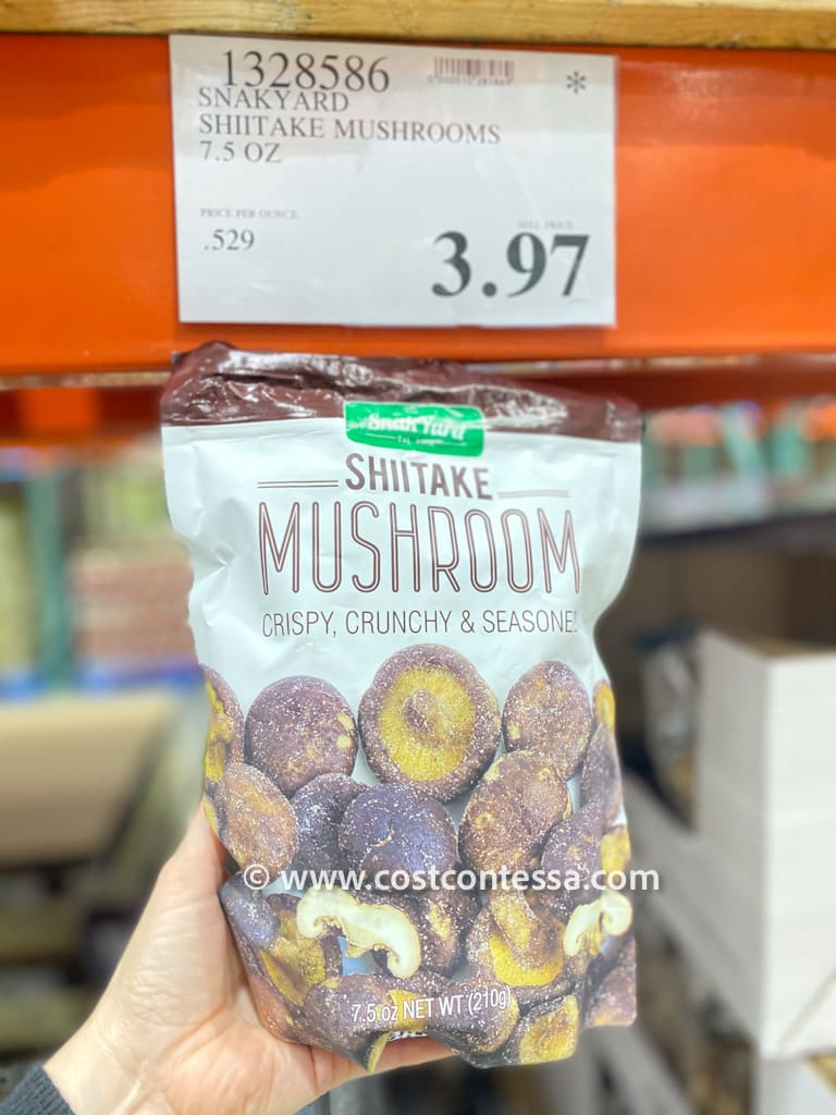Snakyard Dried Shiitake Mushrooms - Crispy, Crunch & Seasoned - Now on a Clearance Deal at Costco Stores for $3.97