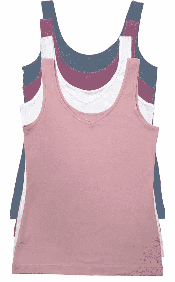 Basic tanks x 4! There are Four colors in a pack of these Felina tank tops at Costco, and two ways to wear each one...a comfy basic spring wardrobe update! A 4-pack is $12.99 at costco.com and that means you can grab all 4 for $9 on the Costco online clothing coupon deal!