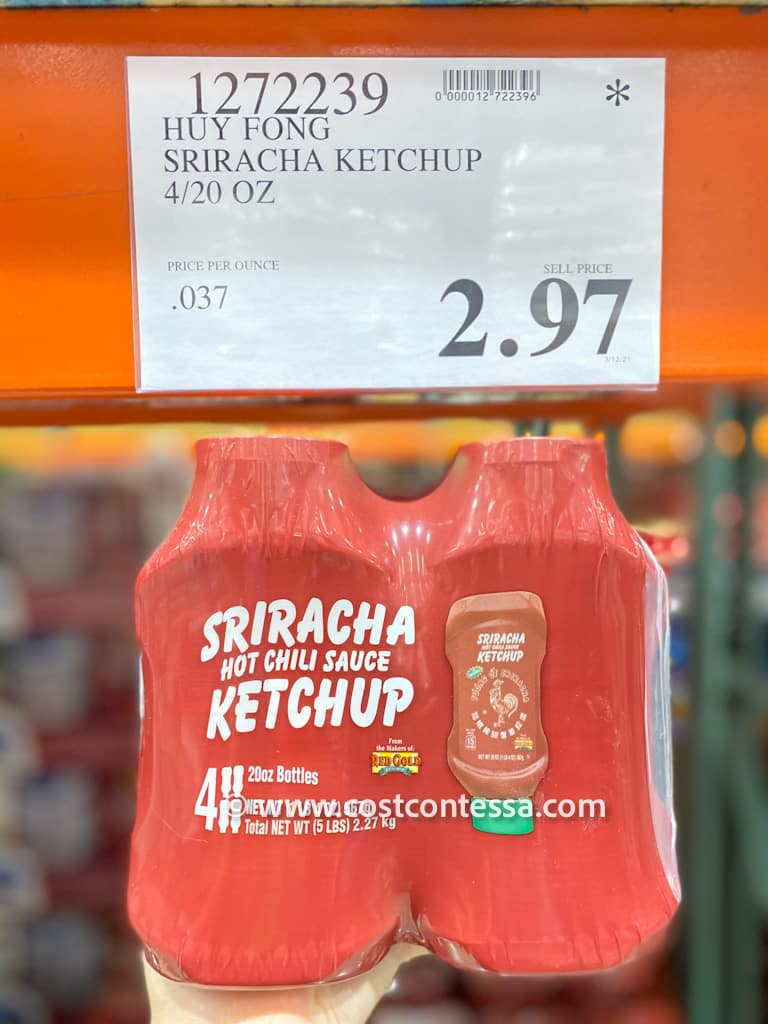 Huy Fong Sriracha Ketchup on Markdown Clearance at Costco - Last Chance - 4 bottles for $2.97!