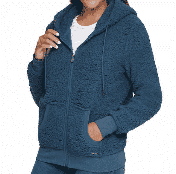 Clearance + Coupon Stacked! Right now Costco has these women's Marc New York full zip cozy fleece jackets are on clearance for $13, which means you can grab them for $9 each! Costco clothing steal!