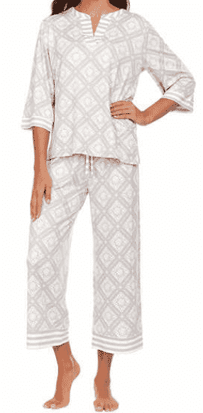 SUPER STEAL! Come in 3 color options and after $4 off using the online coupon, you can snag these Flora Nikrooz cropped PJ set at Costco for only $13!