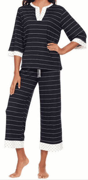 We are kind of obsessed with how cute these tunic style pj sets are! After $4 off using the online coupon, you can snag these Flora Nikrooz cropped PJ set at Costco for only $13!
