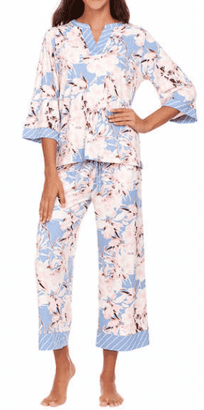 Summer Pajama Refresh! Preppy, pretty and comfy! After $4 off using the online coupon, you can snag these Flora Nikrooz cropped PJ set at Costco for only $13!