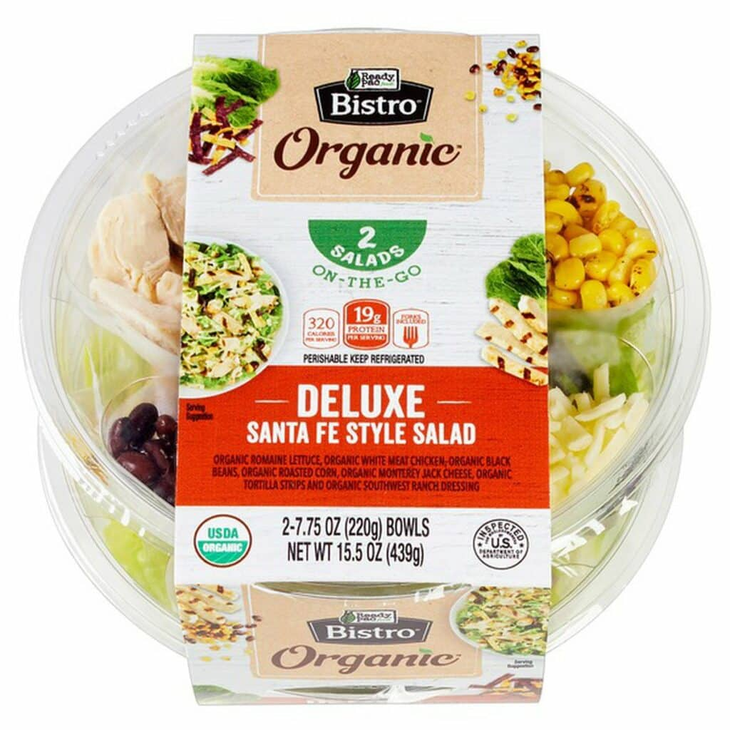 Organic Bistro Salads Like This Deluxe Santa Fe Style Salad are Perfect For Grabbing On the Way to the Beach or Tide Pools for a Beachside Picnic!