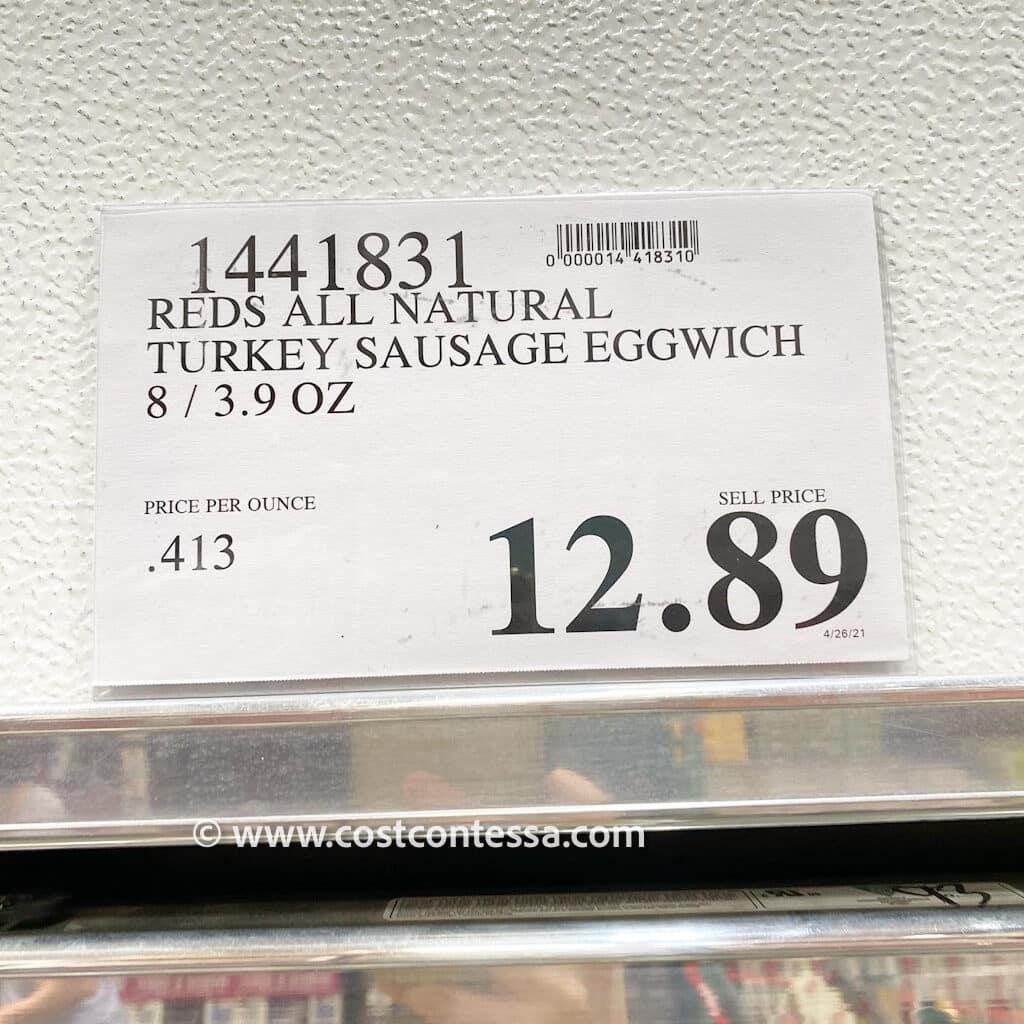 Costco Keto Breakfast - Frozen Red's Egg'Wich with Turkey Sausage