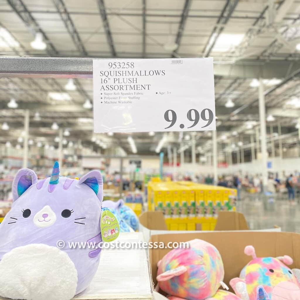"""16"""" Costco Squishmallows are now available in-store for $9.99"""