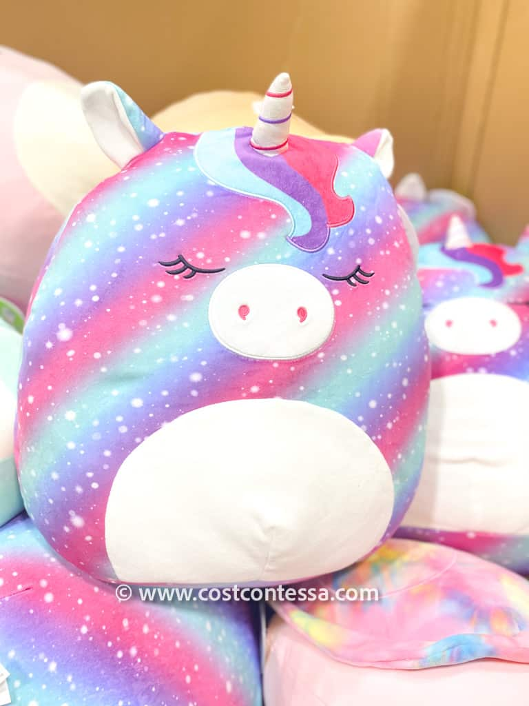 """Rainbow Unicorn Squishmallows! These brand New Squishmallows at Costco! These 20"""" cuties are only $10 each and come in fantastic spring pastel colors, kitties, ladybugs, unicorns and more!"""