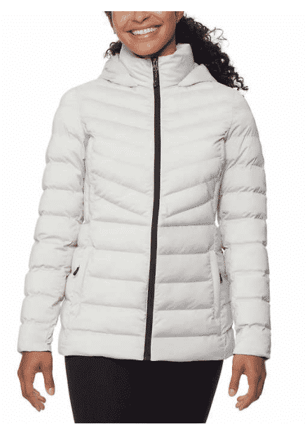 This women's 32 Degrees Ladies' Hooded Stretch Jacket from Costco is marked down to $9.97. After the coupon is applied that shakes out to $5.97.