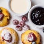 Blueberry Lemon Cream Cheese Keto Costco Pancake Stacks