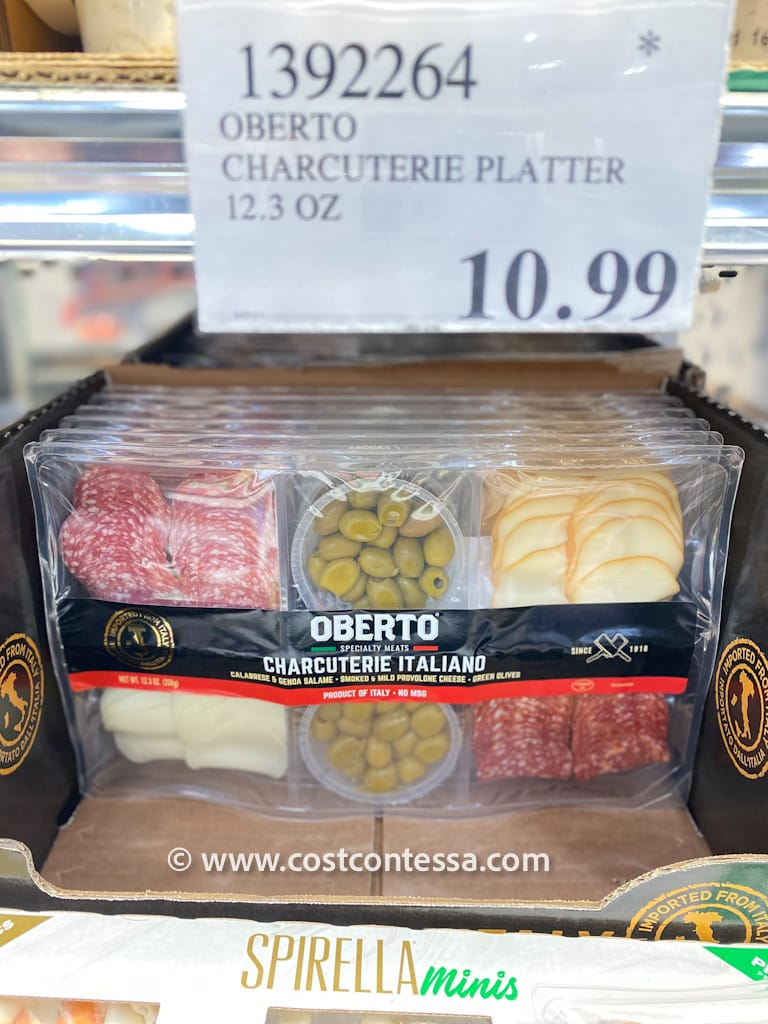 Italian Cheese and Charcuterie Board from Costco - Salame, Provolone, Olives
