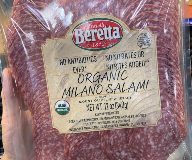 0 Carbs Beretta Uncured Organic Salami at Costco