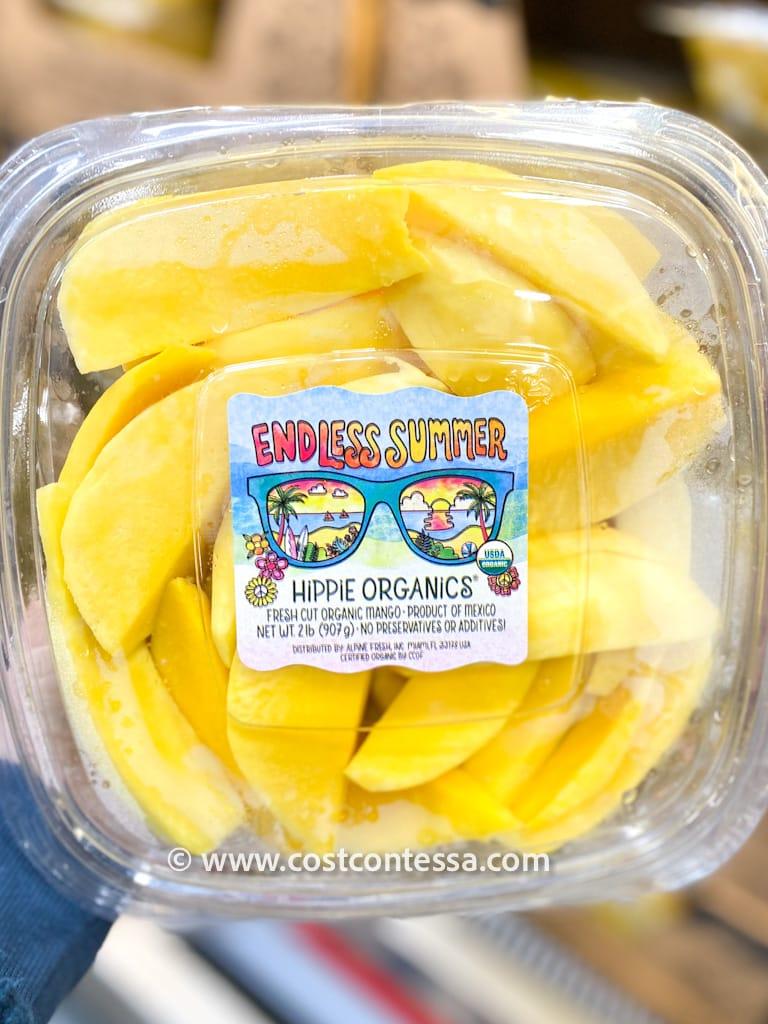Hippie Organics Fresh Cut Organic Mango is Costco Item Number 122177 and Retails for $8.99 for 2lbs. | costcontessa.com