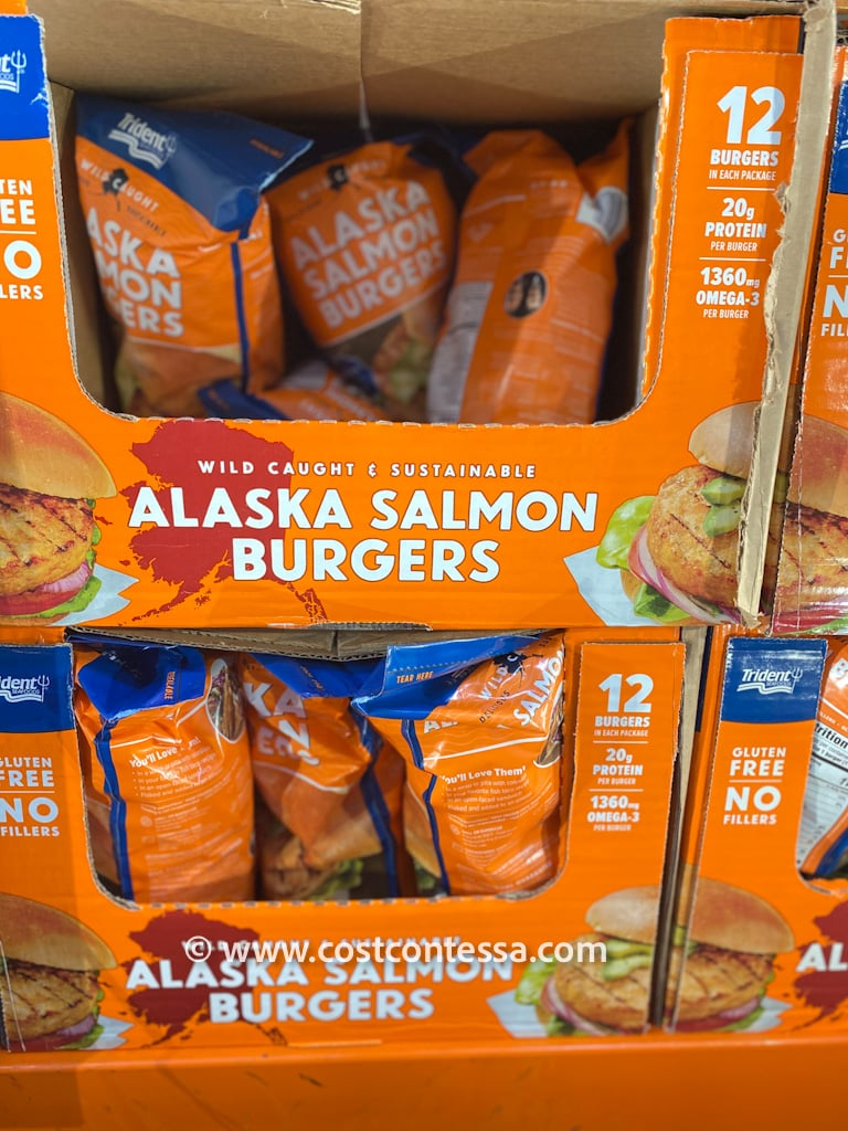 Wild Caught Alaskan Salmon Burger Patties at Costco - Sustainable, Frozen, Healthy Dinner ideas from Costco! Keto & Paleo Friendly.