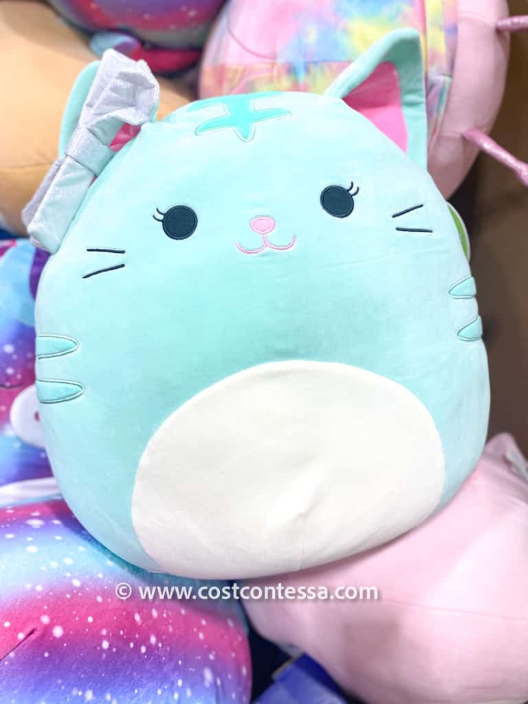 """Turquoise Kitten Smashmallow! Brand New Squishmallows at Costco! These 20"""" cuties are only $10 each and come in fantastic spring pastel colors, kitties, ladybugs, unicorns and more!"""