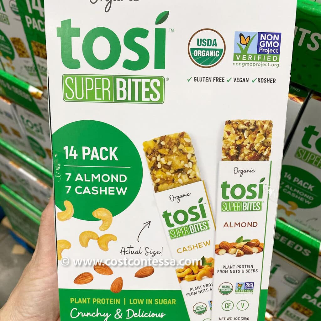 Tosi Super Bites - Organic Snack Bars at Costco - Healthy Snacks Made from Almonds and Cashews - Vegan & Gluten Free!