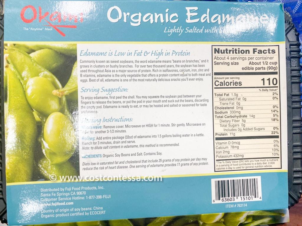 Organic Costco Edamame from Okami