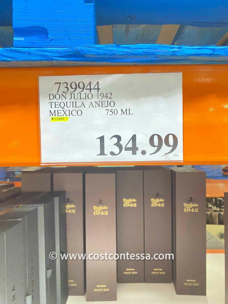 Costco Don Julio 1942 Tequila 750 ML Price $134.99