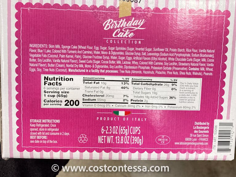 COSTCO BIRTHDAY CAKE DESSERT CUPS