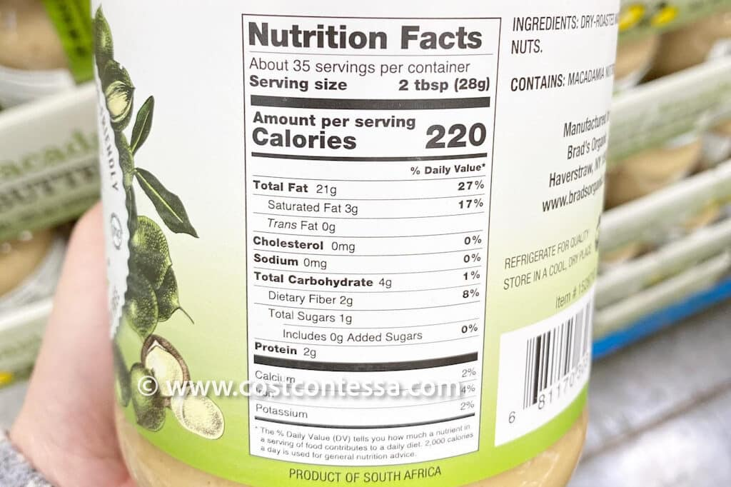 Brad's Macadamia Nut Butter - Paleo, Keto, Vegan, Gluten Free