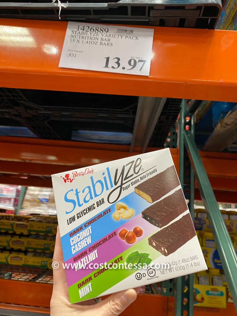 Stabilyze Low Glycemic Bars on Clearance at Costco - 15 bars $13.97
