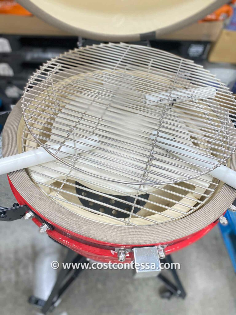 Cooking Surface of the Ceramic charcoal grill -- Costco Kamado Grill by Louisiana Grills are the perfect choice for people who love to grill meat
