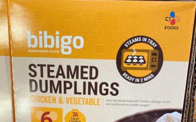Costco Bibigo Dumplings - Steamed Chicken & Vegetable Korean Dumpling