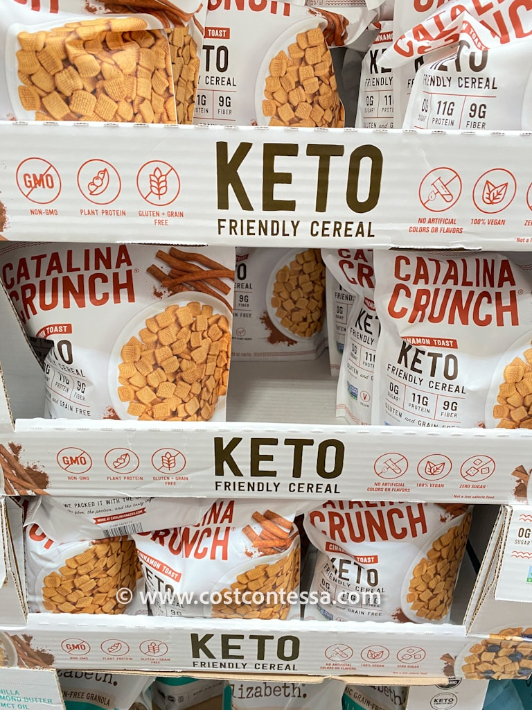Costco is now selling Catalina Crunch Cinnamon Toast Crunch Cereal! It's Keto, Paleo, Gluten Free, Soy Free, Grain Free, Vegan and Non-GMO!
