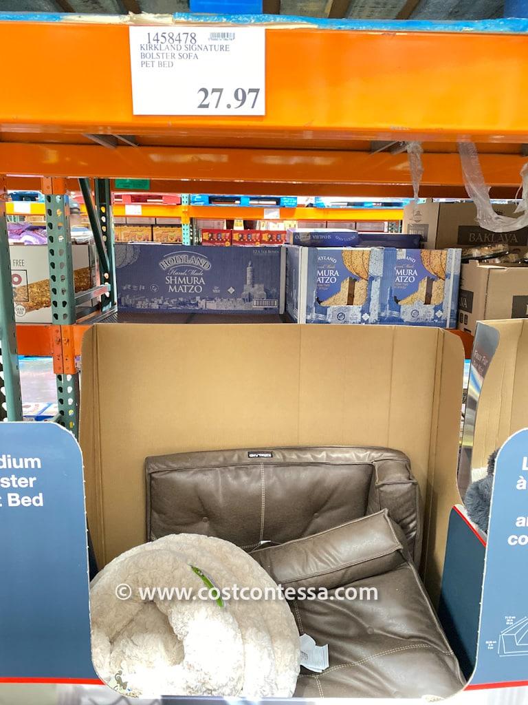 Costco Dog Beds on Clearance - $27.97 for Medium Kirkland Signature Bolster Pet Beds!