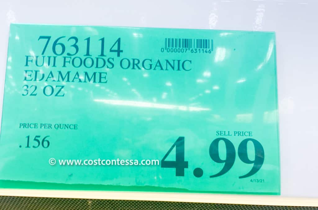 Organic Costco Edamame in the fresh vegetable section - 32 oz. for $4.99