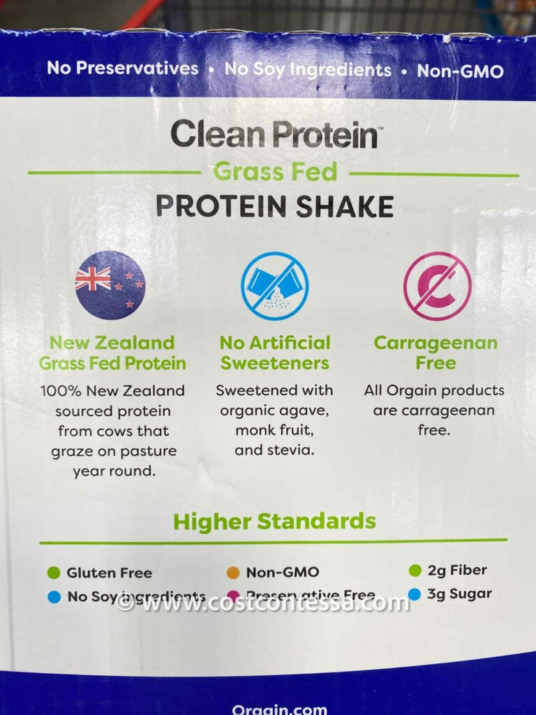 Orgain Clean Protein Shakes are Grass Fed, Agave Sweetened, Soy & Gluten Free