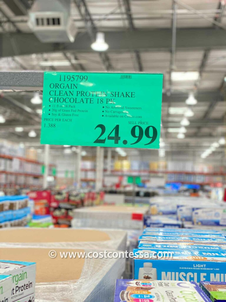 COSTCO ORGAIN CLEAN PROTEIN SHAKES - Grass Fed, Agave Sweetened, Soy & Gluten Free