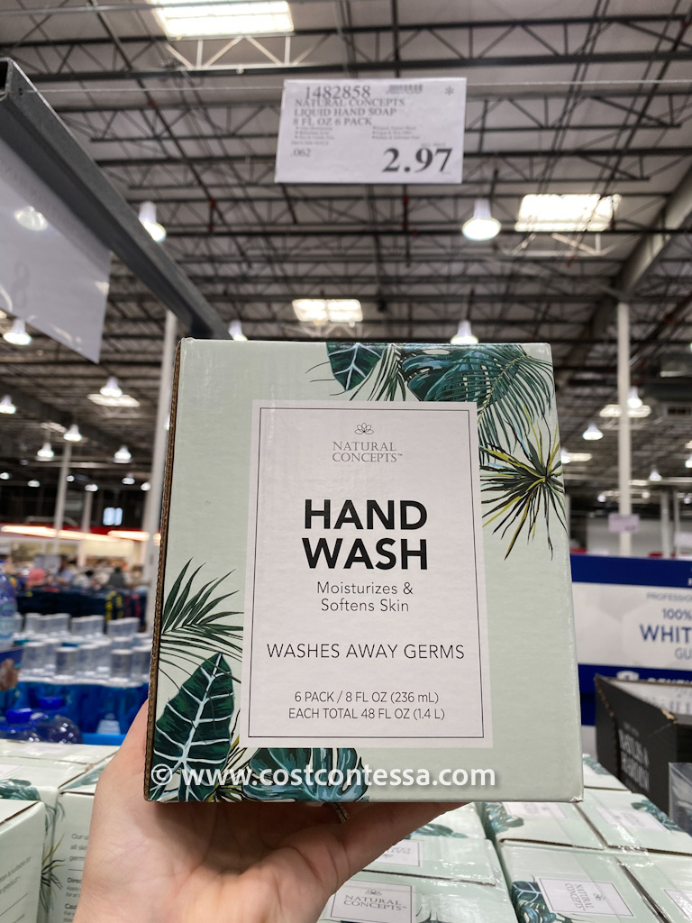 Pack of 6 Bottles of Natural Concepts Hand Wash on Clearance at Costco $2.97!