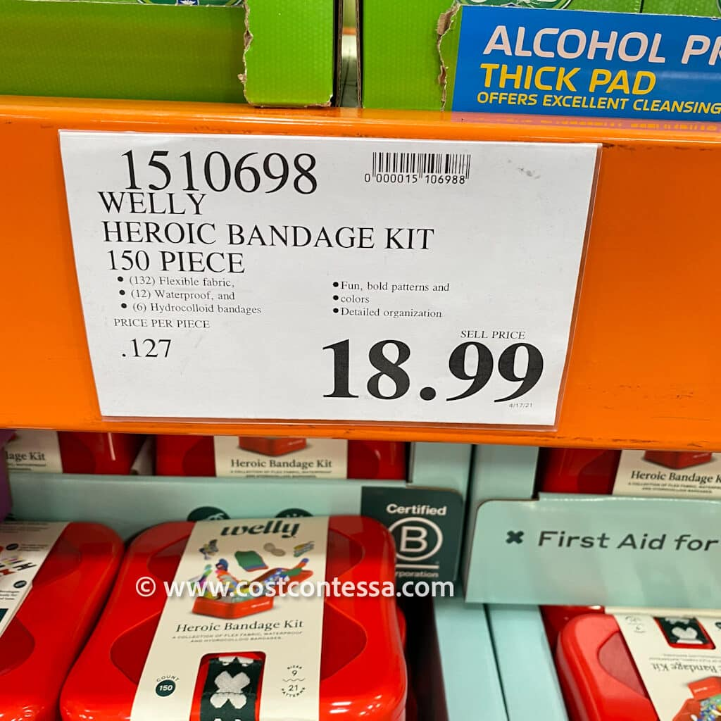 Costco Welly Heroic Bandage Kit - 150 Kit - price cost $18.99 | See our review and more great Costco finds, deals, clearance and recipes at CostContessa.com