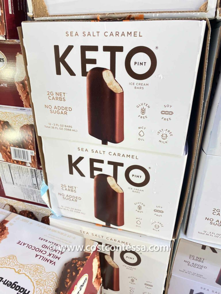 Costco Keto Ice Cream Bars - Keto Pint Ice Cream Bars - Sea Salt Caramel